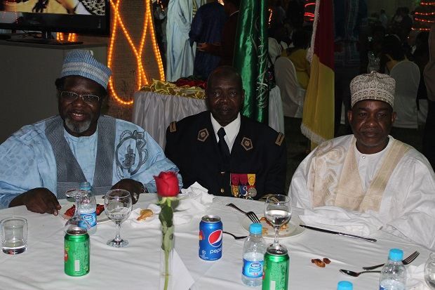 H.E IYA TIDJANI WITH COLONEL ABBA AND THE LAMIDO OF NGAOUNDERE