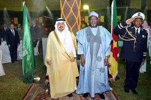 1. H.E IYA TIDJANI, CAMEROON'S AMBASSADOR WITH THE SPECIAL  GUEST, PRINCE FAISAL BIN BANDAR, GOVERNOR OF RIYADH