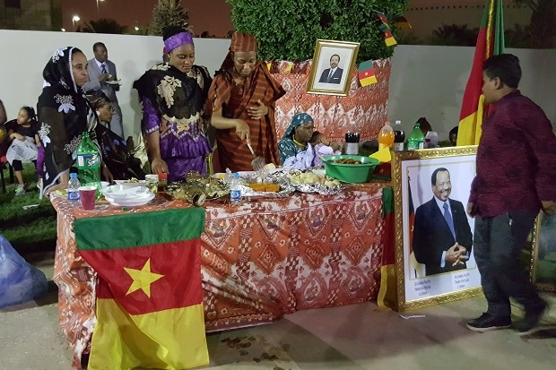 CAMEROON STAND DURING AFRICA DAY