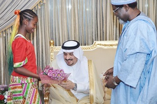 2. WELCOME WISHES TO THE GOVERNOR OF RIYADH