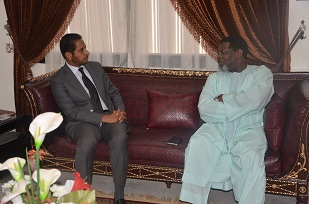 1. Cameroon Ambassador, H.E IYA TIDJANI, with the Dean Of  Diplomatic Corps
