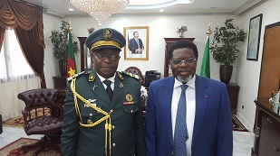 1. H.E IYA TIDJANI WITH COLONEL ABBA  TONGARI