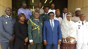 5. STAFF OF CAMEROON EMBASSY WITH H.E  IYA TIDJANI