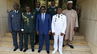 6. THE NEW MILITARY ATTACHE WITH THE  STAFF OF MILITARY MISSION