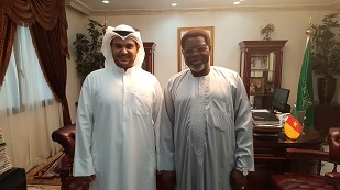 Mr. Mesha Al-Ali and H.E Iya  Tidjani