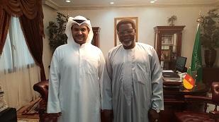 Mr. Mesha Al-Ali and H.E Iya  Tidjani