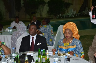 3_The Minister and Mrs Hermine  Tidjani